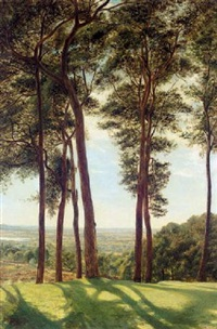 the painters walk, hampstead heath by arthur john herbert