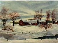 untitled (winter in priddis) by dick van den hoogen