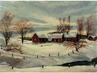 untitled (winter in priddis) by dick van den hoogen