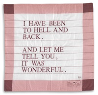 i have been to hell and back, and let me tell you, it was wonderful by louise bourgeois