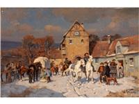 pferdemarkt vor dem stadttor by wilhelm velten