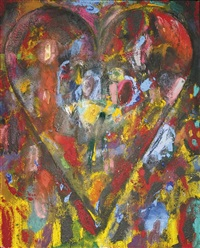 the heart with a raised hand by jim dine