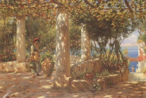 the pergola in autumn capri by horace fisher