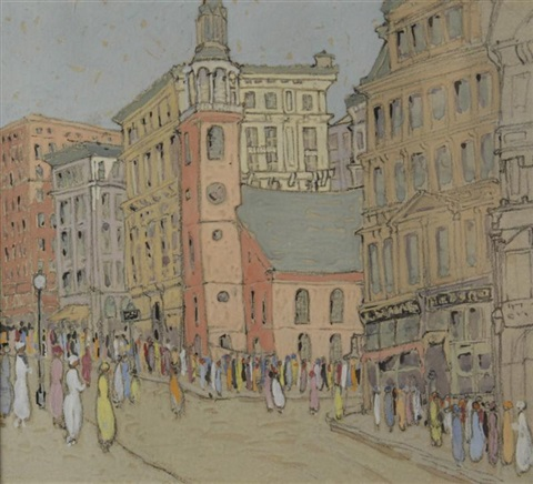 boston street scene by eleanor parke custis