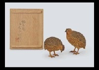 coturnix japonica (pair) by gyokusui ueno