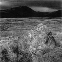 standing stone, prenteg road/ drovers' roads wales by fay godwin