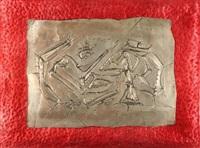 una lamina di argento sbalzato by roberto aloi