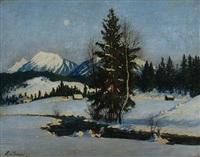 winterlandschaft im hochgebirge by ludwig von senger