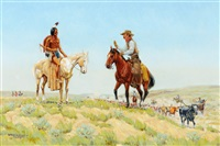 on the chisholm trail - parley for wohaws by byron wolfe