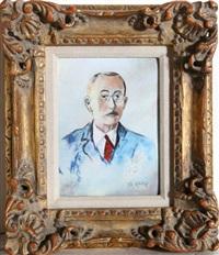 portrait of bonnard by max karp