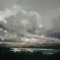 trawsfynydd lake under heavy clouds by david grosvenor
