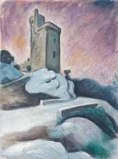 la tour philippe le bel au soleil couchant by alfred lesbros
