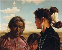 navajo women & child by r. brownell mcgrew