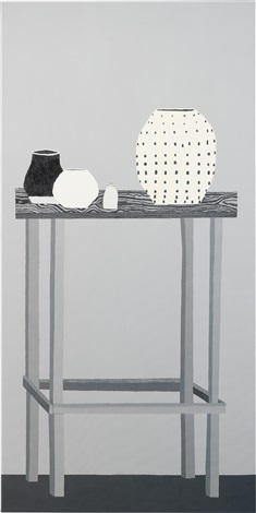 shio still life in black and white by jonas wood