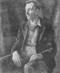 portrait of a man by samuel brecher