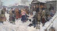winter wedding by georgi federovich gotgoldt