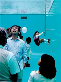 leandro's pool, kanazawa, japon by leandro erlich