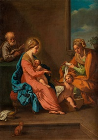 die heilige familie mit elisabeth und dem johannesknäblein by anonymous-italian-bolognese (17)