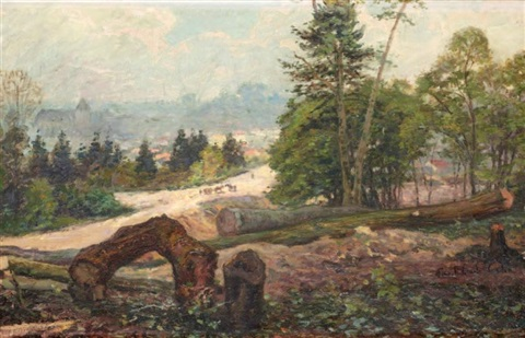 paysage by paul emile colin