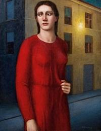 figura in rosso by aurelio bulzatti