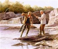 two men fishing by john walter scott