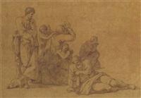 un groupe de figures se lamentant by jean françois pierre peyron