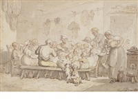 feeding time by thomas rowlandson