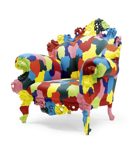 fauteuil model proust mozart by alessandro mendini