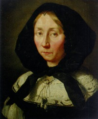 portrait of a lady in widow's weeds by abraham lambertsz jacobsz van den tempel