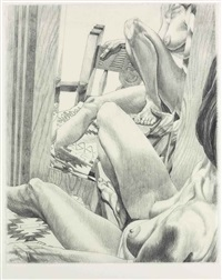 fiesta nude by philip pearlstein