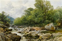 salmon trap on the lledr by frederick william hulme