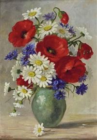 stillleben mit wiesenblumen by maria kistler