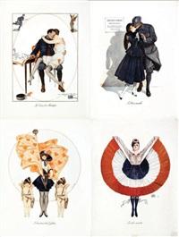 sans titre (set of 4) by georges léonnec