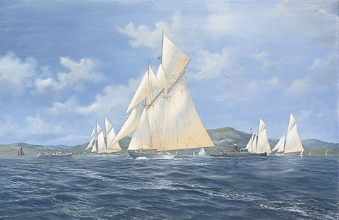 westward leading the fleet marmion and jeannie deans astern by john j holmes
