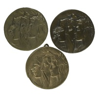 three medallions: see no evil, speak no evil, hear no evil by robert ingersoll aitken