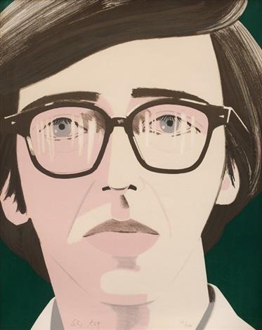 portrait of a poet: kenneth koch by alex katz
