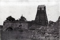 mysore. temple of chamoondee on the hill by william henry pigou
