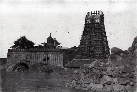 mysore temple of chamoondee on the hill by william henry pigou