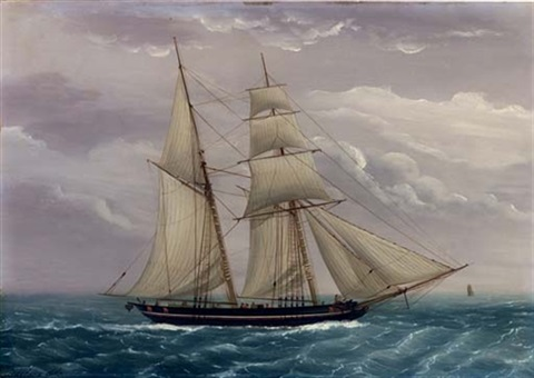 a fishing schooner by duncan mcfarlane