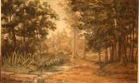 foret et ruisseau by edmond louis marie wagrez