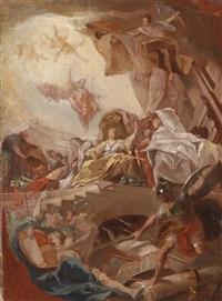 allegorische verherrlichung eines fürstenhauses by johann evangelist holzer