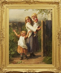 the cottager's welcome by william charles thomas dobson