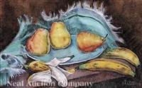 still life: pears and bananas by george biddle