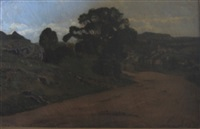 landscape with village by thomas allen jr.