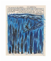 untitled (the weight of the elements...) by raymond pettibon