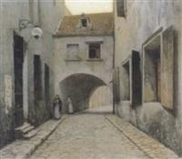 gasse im ghetto von lublin by rudolf weber