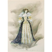 costume design for beverly sills as lucia in donizetti's lucia di lammermoor, new york city opera by jose varona