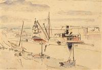 vue du port de concarneau by maurice asselin