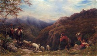 goat herds in the appenines by william linnell
