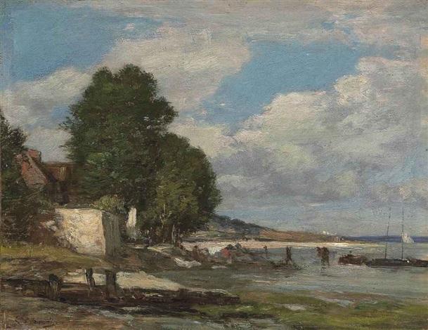 paysage de bord de mer by eugène boudin